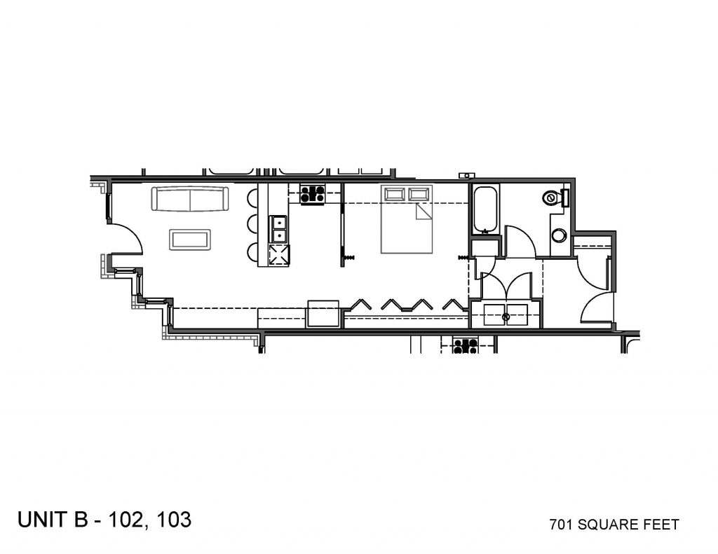 Unit 102, 103 Floor Plan