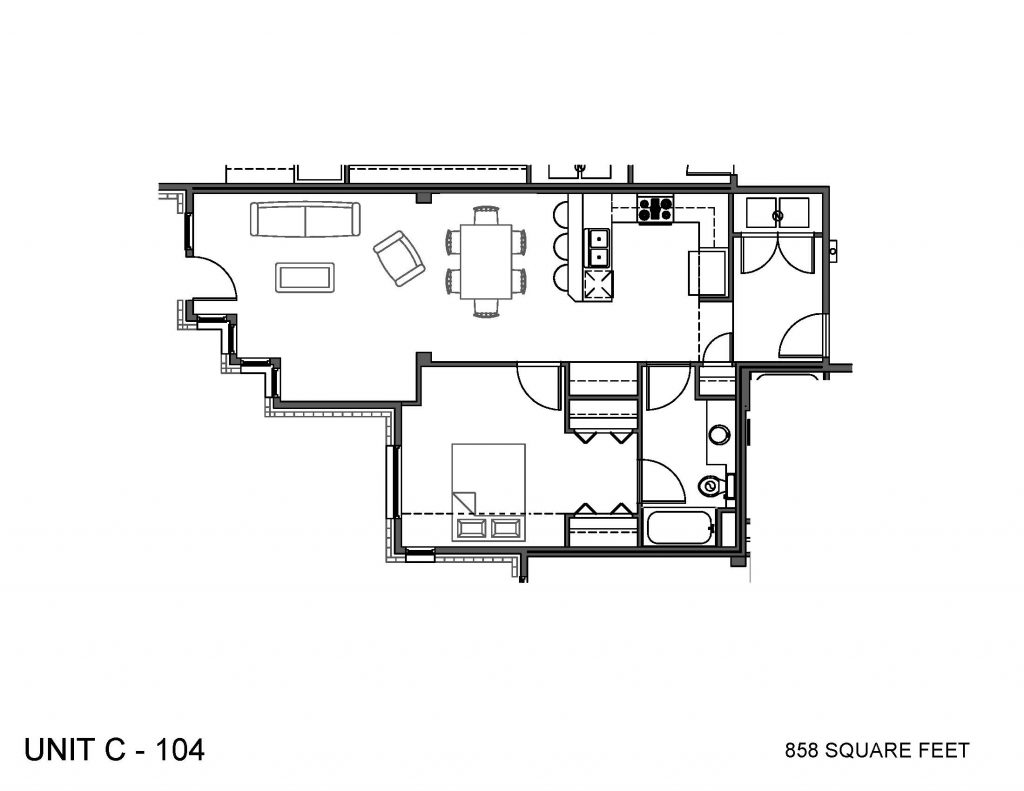 Unit 104 Floor Plan