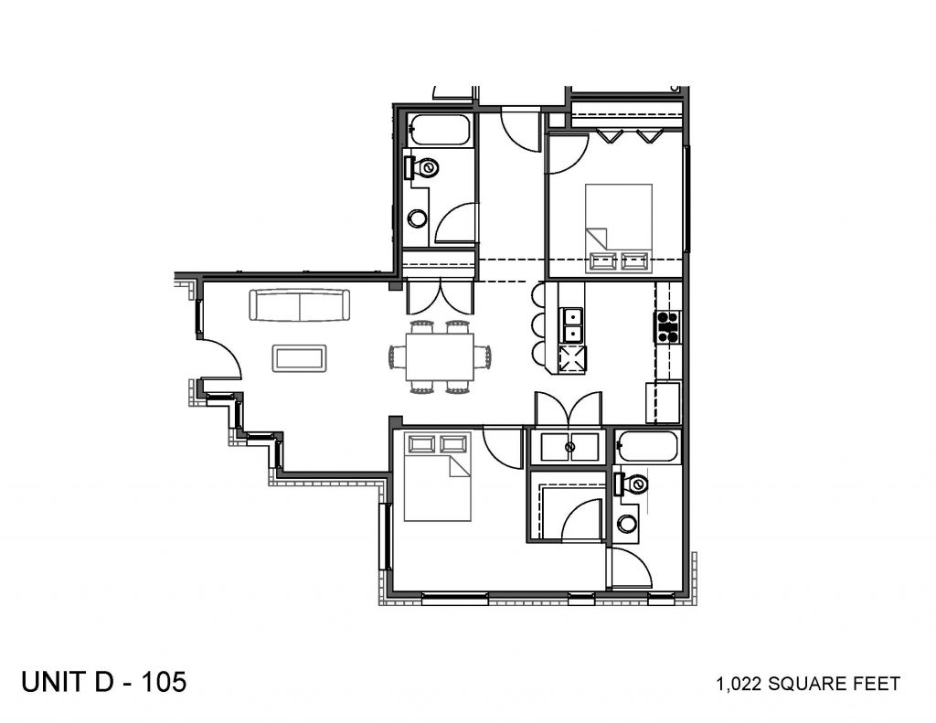 Unit 105 Floor Plan