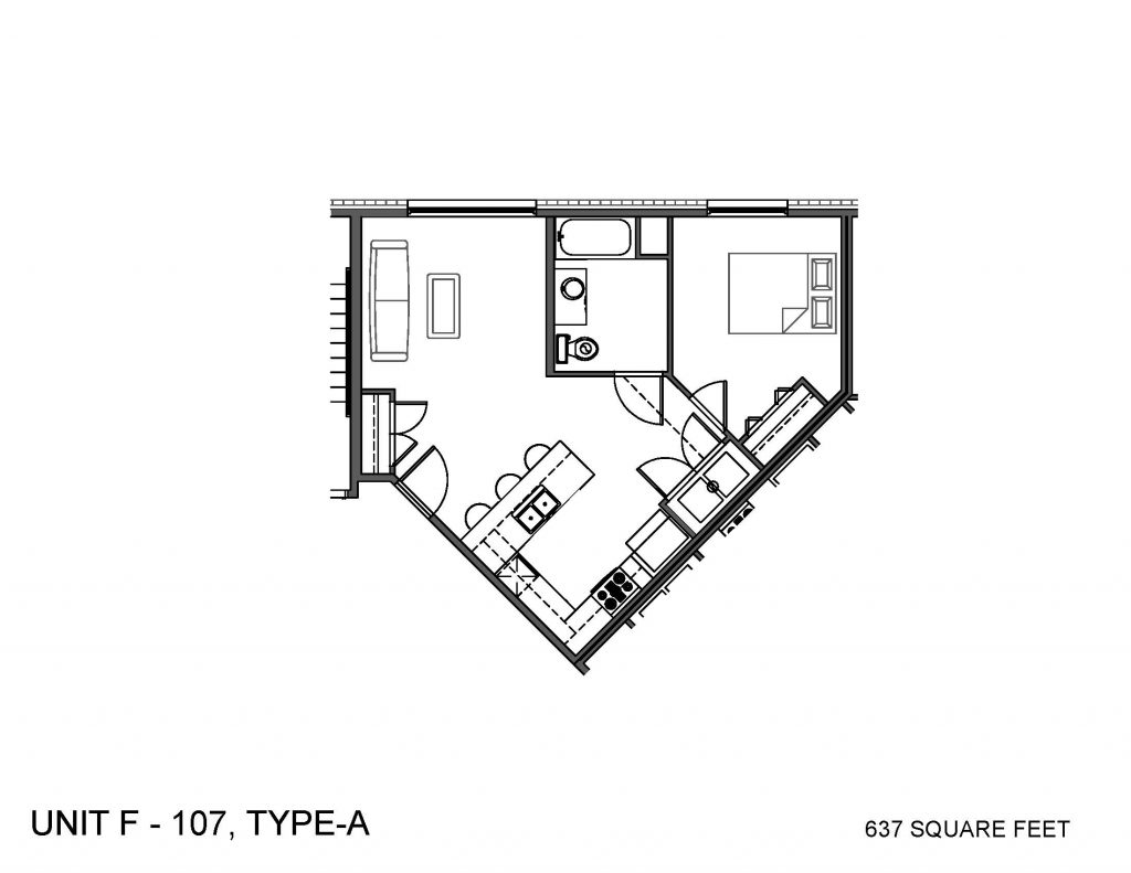 Unit 107 Floor Plan