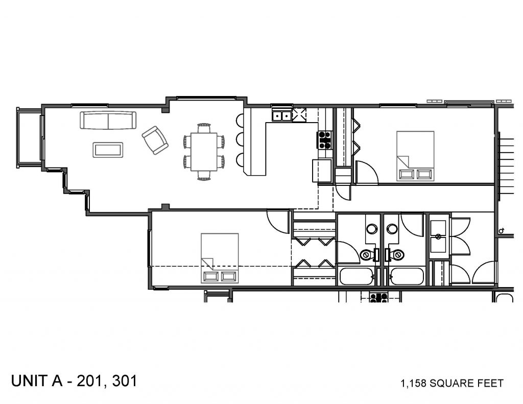 Unit 201, 301 Floor Plan