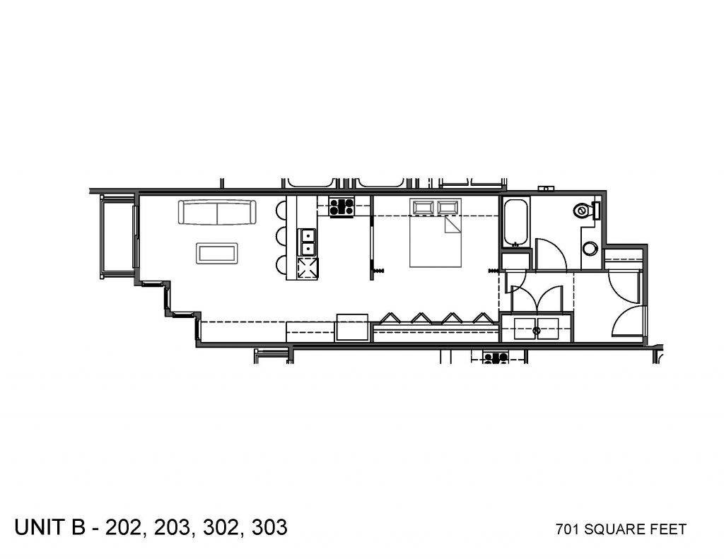 Unit 202, 203, 302, 303 Floor Plan