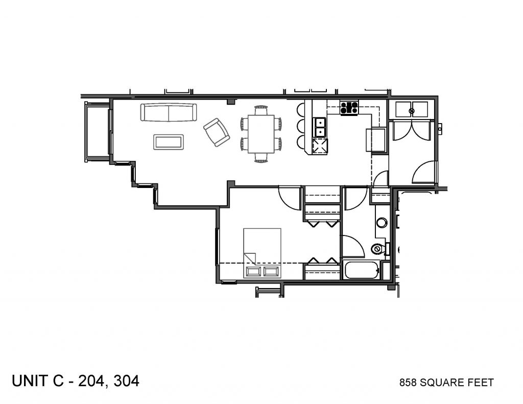 Unit 204, 304 Floor Plan