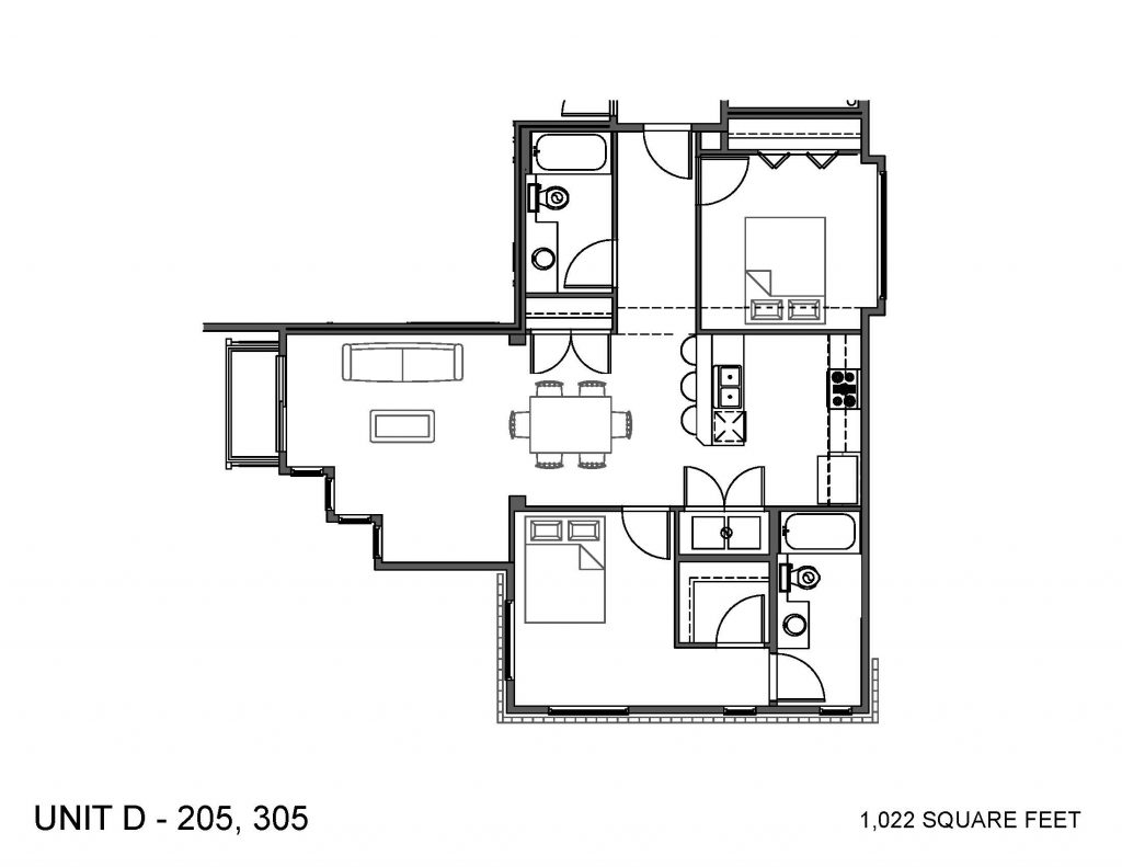 Unit 205, 305 Floor Plan