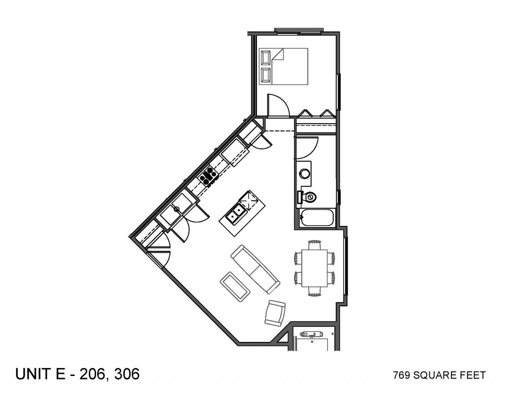 Unit 206, 306 Floor Plan