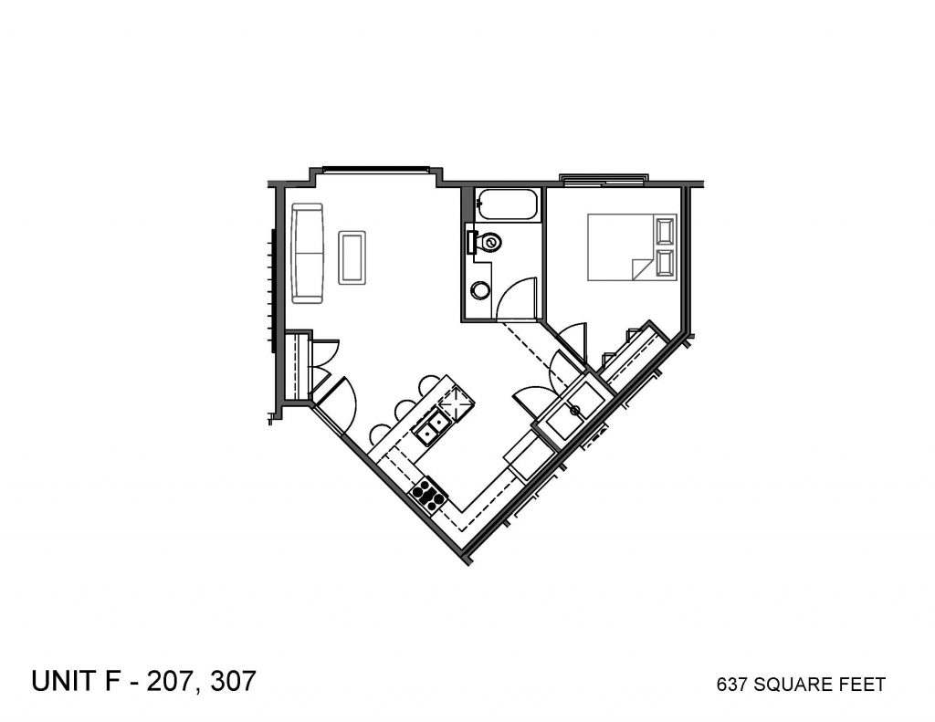 Unit 207, 307 Floor Plan